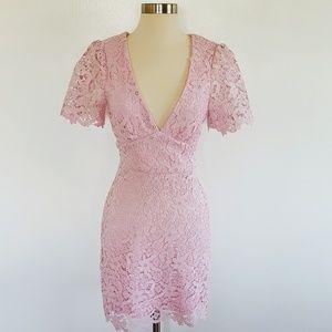 Lulus | Sweetie Light Pink Lace Mini Dress - Sz S